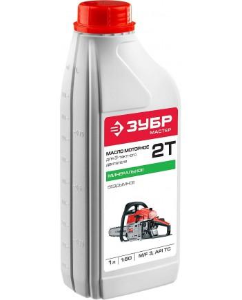 Масло ЗУБР, для 2-х тактных двигат., минеральное, соотношен. бенз-масло 50:1, 1л ЗМД-2Т-М