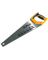 Ножовка по дереву, 400 мм, средний зуб, 7 зубьев на дюйм 3-гранная заточка, двухкомп.ручка 40422