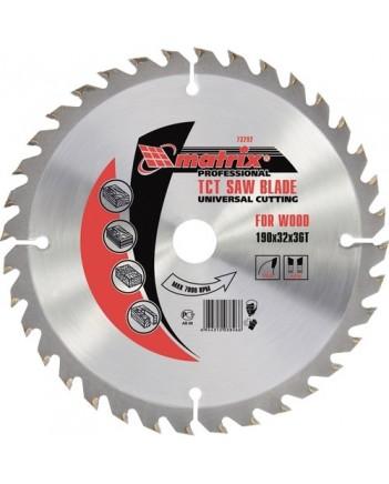 230 х 32мм Пильный диск по дереву, 48 зуба + кольцо 30/32//Matrix 73233