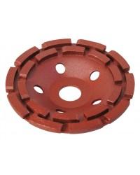 Чашка шлифовальная сегментная, двухрядная, 125х8х22 мм, черновая обработка 39517-1