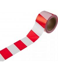Сигнальная лента, цвет красно-белый, 50мм х 150м, STAYER