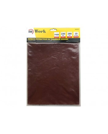 Бумага наждачная на тканевой основе, Р400, 230х280мм 38020