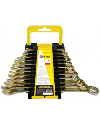 Набор комбинированных ключей, 8 шт., 6-19мм, углерод. сталь, желт. цинк покрыт. 630801-22