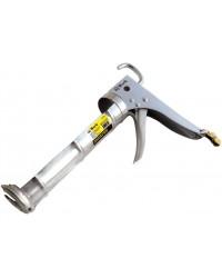 Пистолет для герметика полукорпусный, усиленный, зубчатый шток, 225 мм 14230