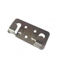 Кляммер фасадный для керамогранита стартовый 1,2 мм нерж. RAL серый (графит)