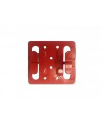 Кляммер фасадный для керамогранита рядовой 1,2мм нерж. RAL красный