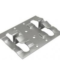Кляммер фасадный для керамогранита рядовой 1,2мм нерж. RAL серый (графит)