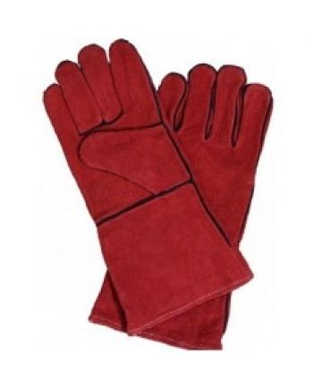 Краги сварщика КРС Master XXL 40 см (красные)