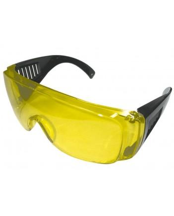 Очки защитные (желтая оправа, черные дужки) 12223