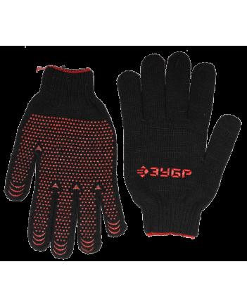 ЗУБР СТАНДАРТ, р-р L-XL, с ПВХ покрытием(точка) перчатки трикотаж, утепленные. 11462-XL