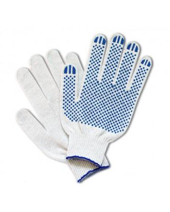 Перчатки ПВХ точка (5)